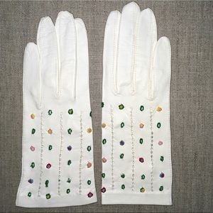 Vintage Capretto Leather Gloves Made in Italy